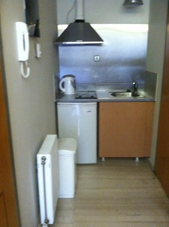 Athens Backpackers: Kitchen in room