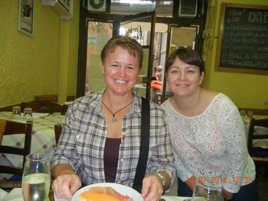 Eating Italy Food Tours: Our guide Kate, on the right