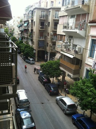 Athens Backpackers: View from Balcony