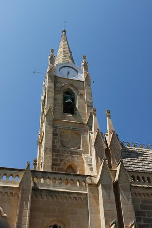 Grand Hotel Gozo: Gothic belfry of the Church across the road from the Hotel