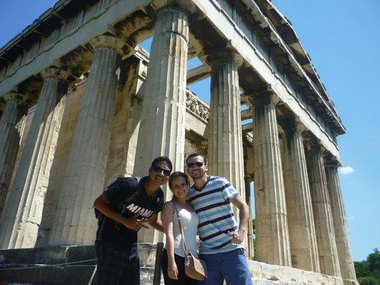 Temple of Hephaestus: Con amigos en el templo de Hefestio