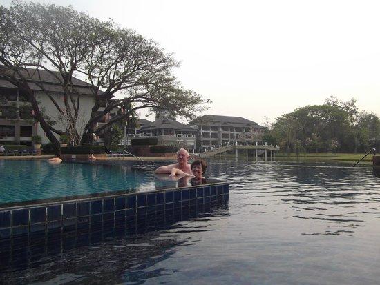 Le Meridien Chiang Rai Resort: Al atardecer, descansado del paseo del día