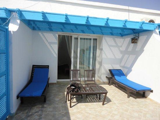 Hotel Dar El Bhar: Terrasse d'une suite