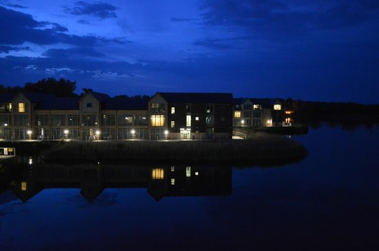 De Vere Cotswold Water Park: View from our room at night