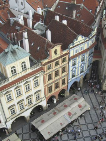 Grand Hotel Praha : View of hotel from Old Town Hall Tower