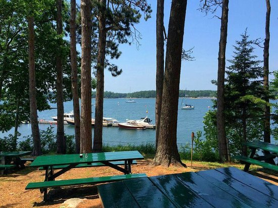 Abel's Lobster Pound: View from the outdoor tables