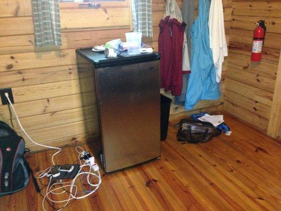 Martha's Vineyard Family Campground: mini fridge inside front bedroom
