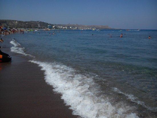 Evi Hotel Rhodes: hlavní pláž Faliraki