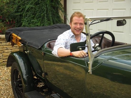 Old Station House B&B: Jack at the wheel of a guest's car!