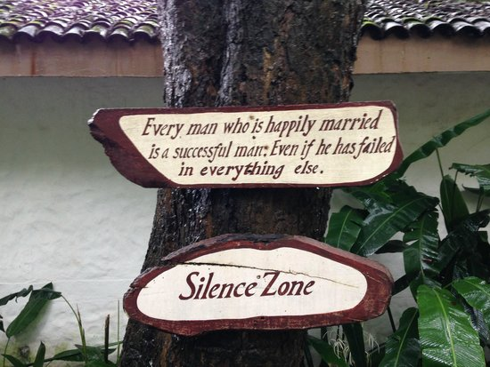 Evolve Back, Coorg: A Quote in one of the trees