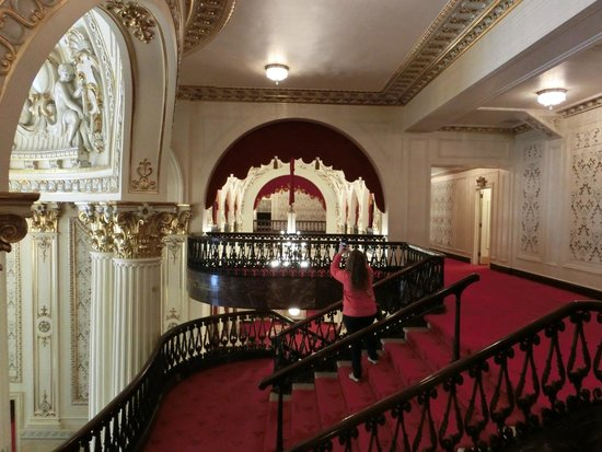 Heinz Hall: Upstairs lobby and staircase.