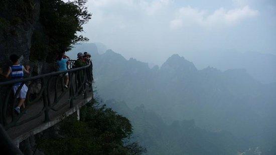 Tianmen Mountain of Zhangjiajie: Walkway view #1