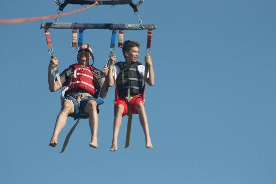 Cocoa Beach Parasail: Flying high