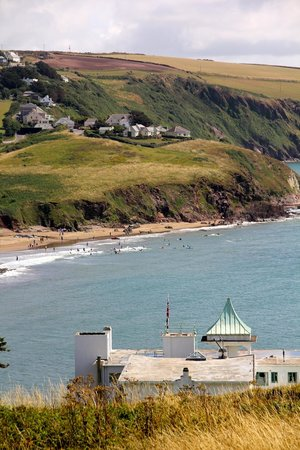 Burgh Island Hotel: View from the Tennis Court