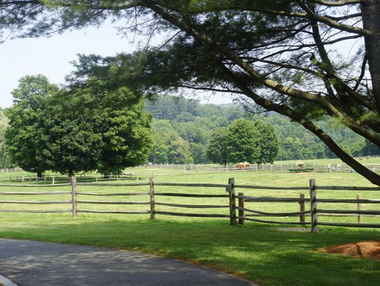 Billings Farm & Museum : View from Information and Admissions Building