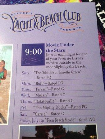 Disney's Beach Club Villas: movies