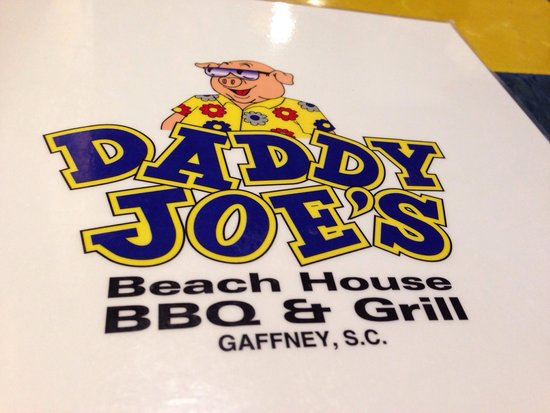 Daddy Joe's Beach House Bbq & Grill: Menu with signature logo