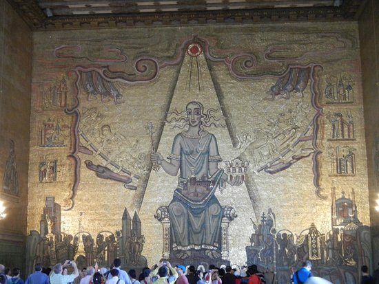 Ayuntamiento: One of the Paintings of the Walls of the Hall Where they receive their Prizes