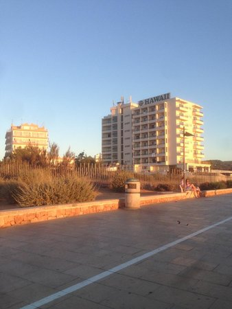 Intertur Hotel Hawaii Ibiza : View from the front