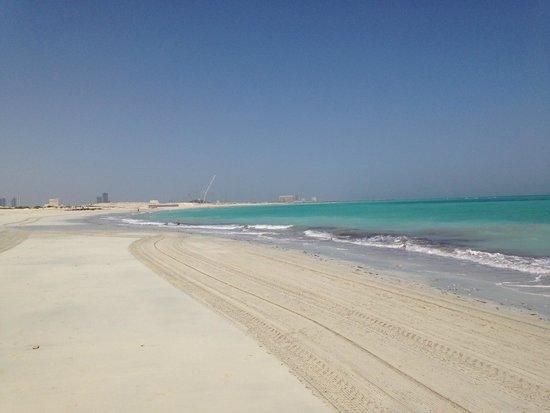 The St. Regis Saadiyat Island Resort: empty beach