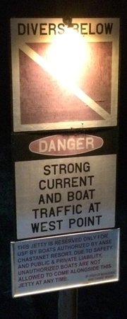Anse Chastanet : Dock sign