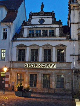 Altenburg, Deutschland: Fraai perceel van de bank .