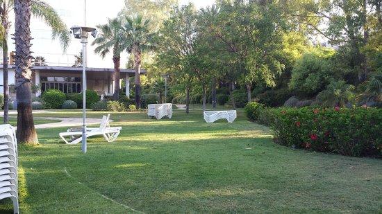 Silken Al-Andalus Palace Hotel: Parco con piscina