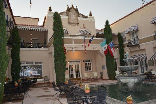 The Hotel Paisano: hotel entrance