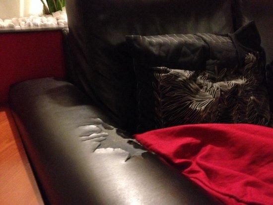 Hotel Europa Caserta: Dettaglio divano