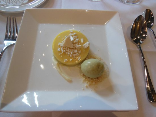 American Bounty: The lemon tart with basil ice cream was sensational