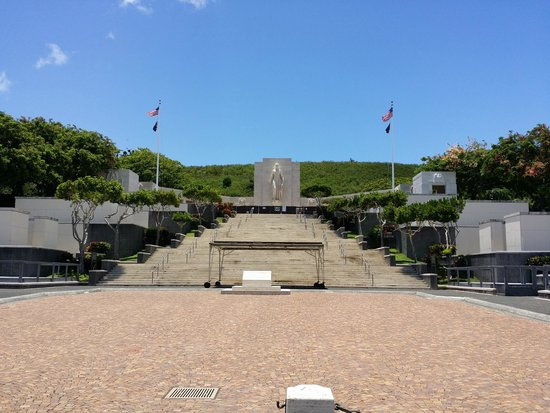 National Memorial Cemetery of the Pacific: view from below