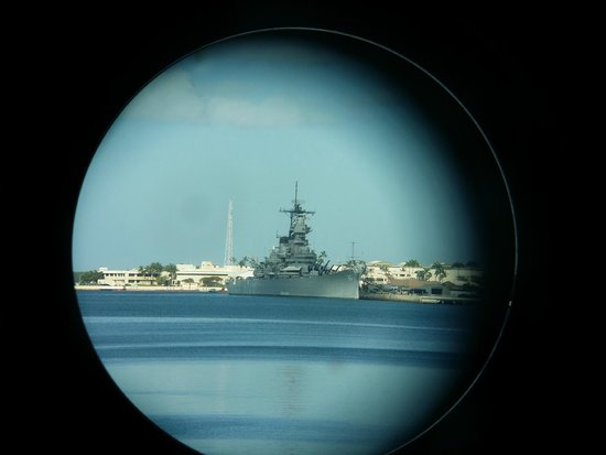 USS Bowfin Submarine Museum & Park: View from lookout on deck of the Bowfin