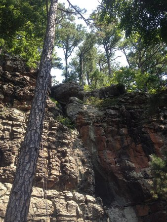 Horseshoe Canyon Ranch: One of the climbing routes with Jason