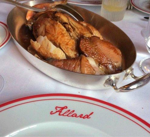 Restaurant Allard: Roast Chicken for Two Persons