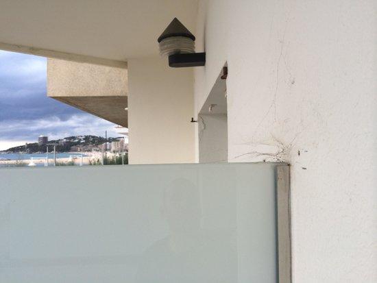 Hotel Rosamar: Telarañas en la terraza de la habitacion superior