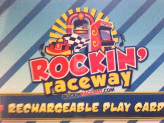 Rockin' Raceway Arcade: My play card, I bought it home.