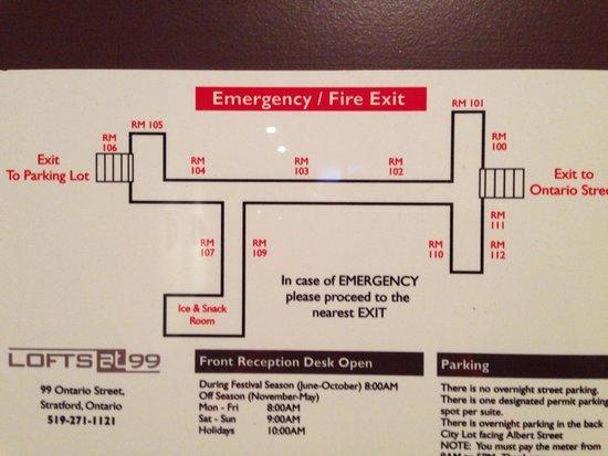 Bentley's Inn : Floor Plan.  We were in room 111