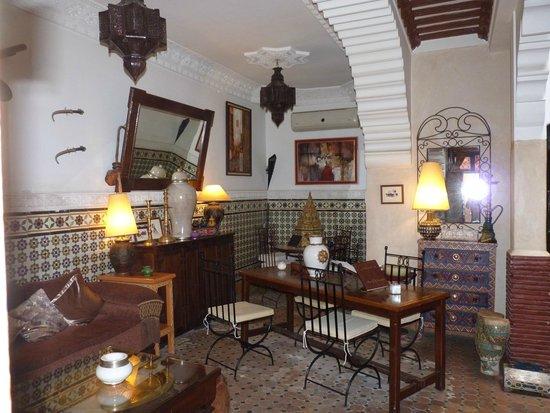 Riad Andalla : Le salon d'accueil