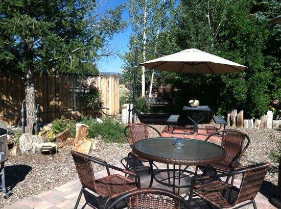 Poncha Lodge: Sunny Courtyard