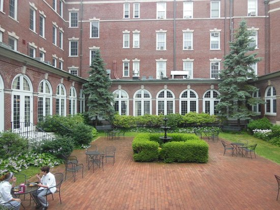 The Culinary Institute of America: The main courtyard inside the facility