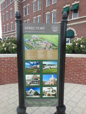 The Culinary Institute of America: A directory guides visitors around the facility