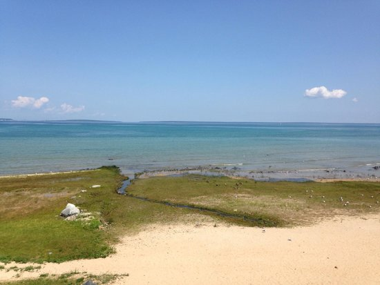 Mackinaw Beach and Bay - Inn & Suites: Marshy wetland beach?