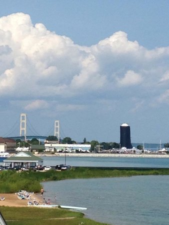 Mackinaw Beach and Bay - Inn & Suites: Zoomed View from 318