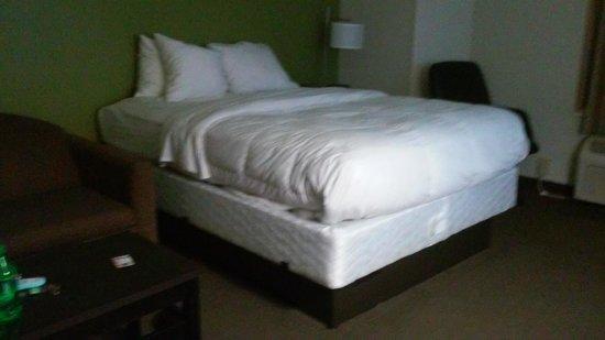 Sleep Inn & Suites near Outlets: no headboard