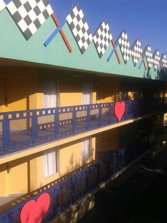 Disney's All-Star Movies Resort: Vista dos quartos