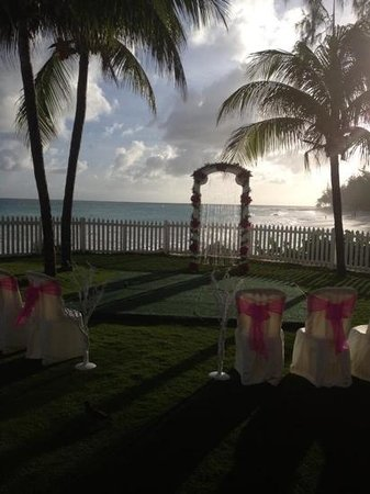 Bougainvillea Beach Resort: perfect backdrop view of wedding site