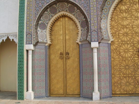 Rabat Old Town : miren esta puerta.. un trabajo artesanal  hermoso..