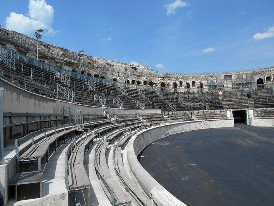 Arènes de Nîmes : It can seat around 20,000 people.