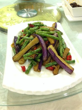 Forest City Hotel : Green beans with egg plant