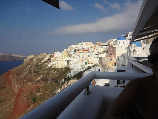 Art Maisons Luxury Santorini Hotels Aspaki & Oia Castle: View from restaurant